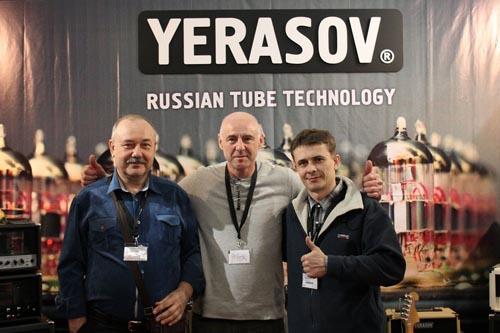 Представители команды Yerasov во Франкфурте - у своего стенда на выставке Muzik Messe - 2014
