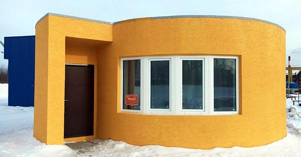 В России впервые целиком напечатан на 3D-принтере полноценный жилой дом. Видео
